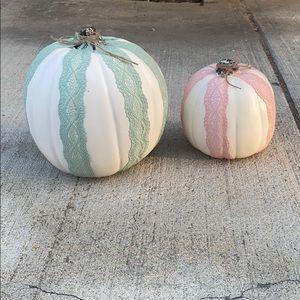 Homemade fall pumpkin decor